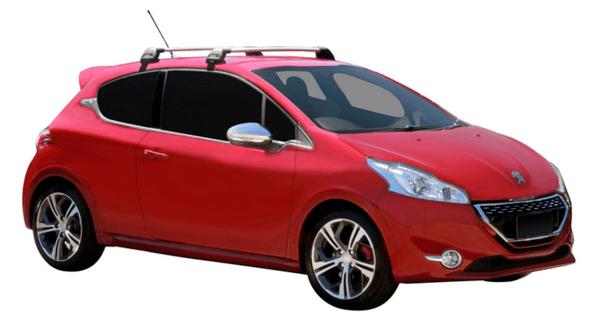 Yakima Flush греди за Peugeot 208 (модел с 3 врати)