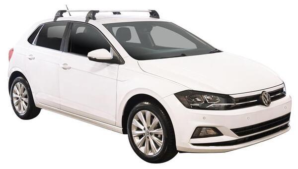 Черни Yakima Flush греди за VW Polo с 5 врати от 2017 година и нагоре