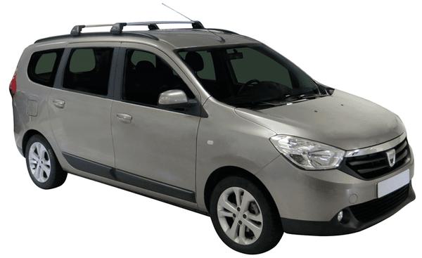 Yakima Flush греди за Dacia Lodgy с вградени надлъжни греди