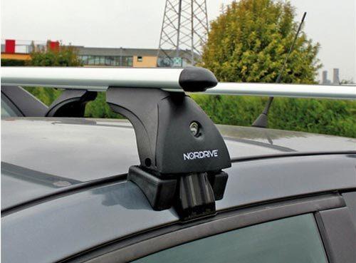Алуминиеви греди EVOS ALUMIA за Dacia Sandero модел без надлъжни греди от 2008 до 2020 година