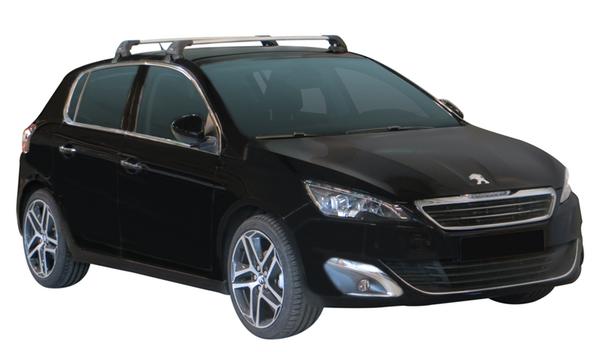 Черни Yakima Flush греди за Peugeot 308 Хечбек от 2013 година и нагоре