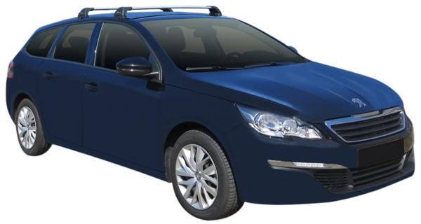 Yakima Flush греди за Peugeot 308 комби 2014- без надлъжни греди - Сиви
