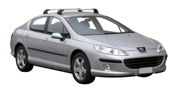 Yakima Flush греди за Peugeot 407 седан модел без надлъжни греди - Черни