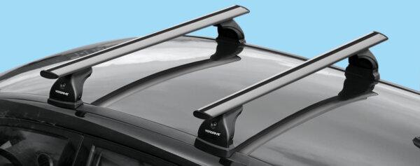 Алуминиеви греди EVOS SILENZIO за Volvo S60 и V60 от 2010 до 2018 година БЕЗ надлъжни греди
