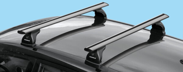 Алуминиеви греди EVOS SILENZIO за Toyota Corolla Verso модел от 2002 до 2004 година без надлъжни греди