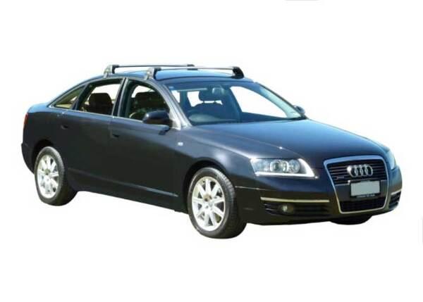 ЧЕРНИ Yakima Flush греди за Audi A6 седан от 2004 до 2011 година