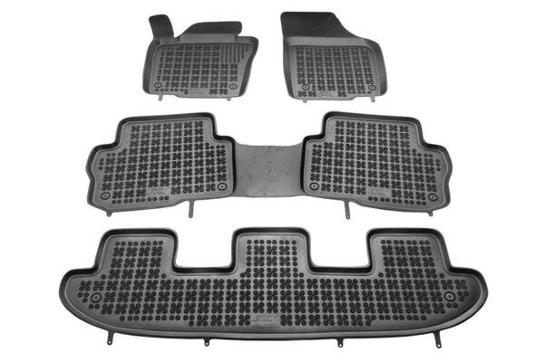 Гумени стелки за Seat ALHAMBRA II версия за 7 пътника - след 2010 година