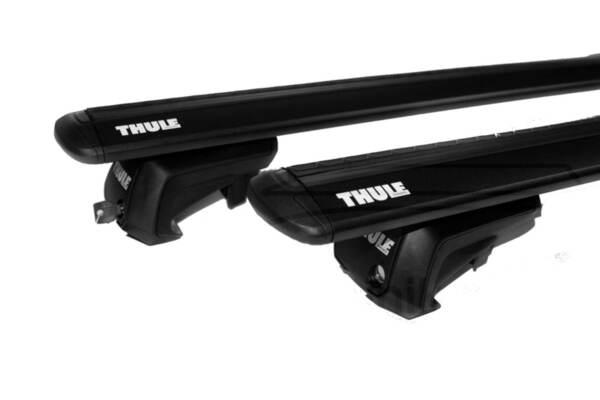 Черни Thule 7104 Wing EVO bars 127 см. за автомобили със стандартни надлъжни греди