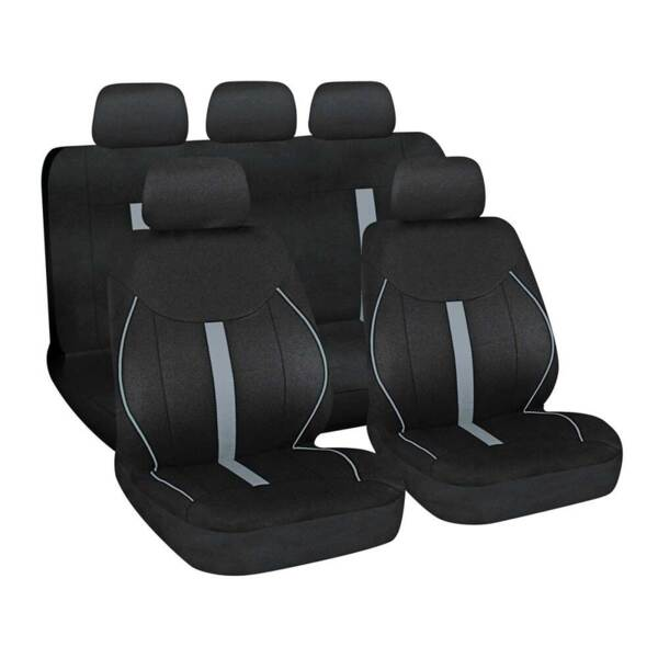 Speed Black-Grey - Комплект Универсални Калъфки за предни и задни седалки