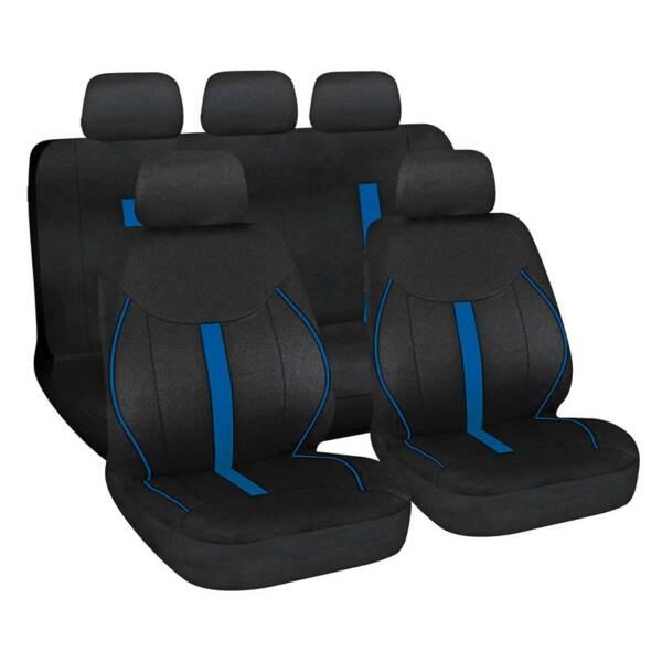 Speed Black-Blue - Комплект Универсални Калъфки за предни и задни седалки
