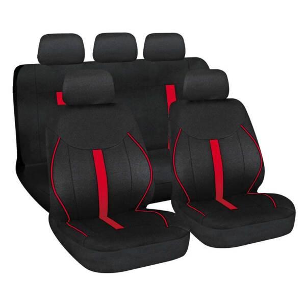 Speed Black-Red - Комплект Универсални Калъфки за предни и задни седалки