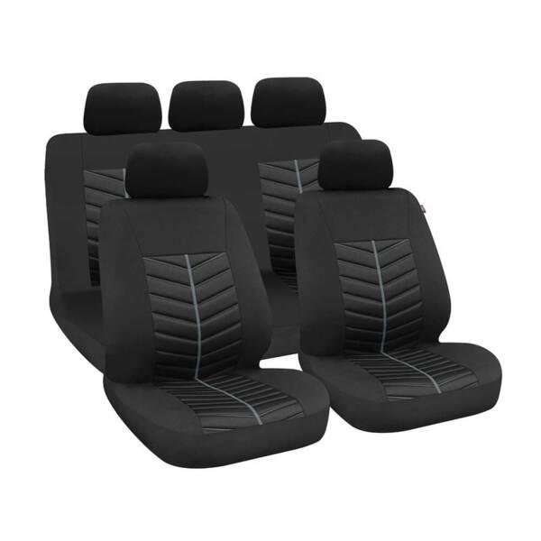 Rapid Black-Grey - Комплект Универсални Калъфки за предни и задни седалки