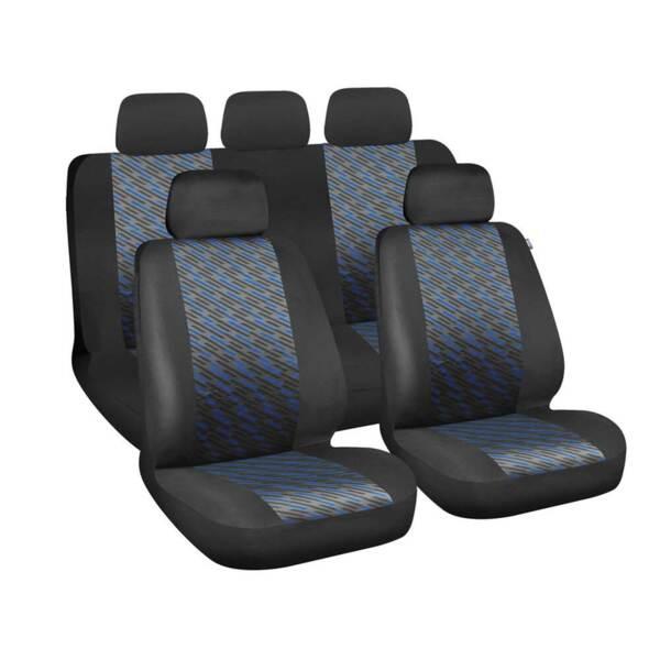 Free Black-Blue - Комплект Универсални Калъфки за предни и задни седалки