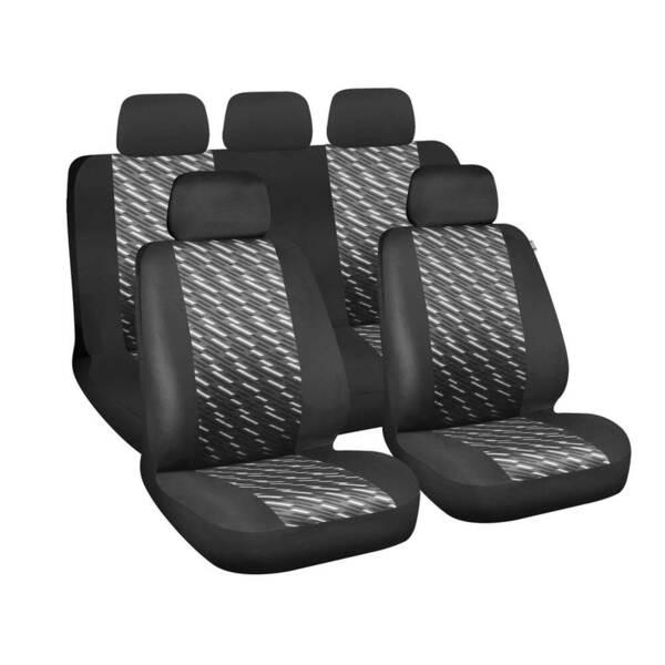 Free Black-Grey - Комплект Универсални Калъфки за предни и задни седалки