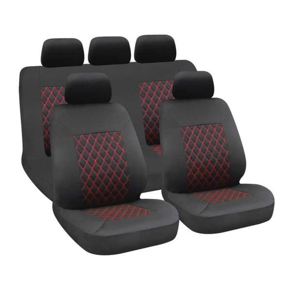 HIVE Black-Red - Комплект Универсални Калъфки за предни и задни седалки