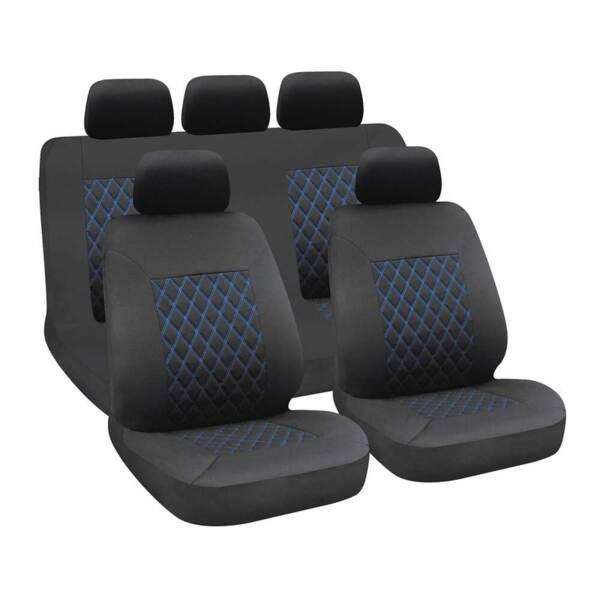 HIVE Black-Blue - Комплект Универсални Калъфки за предни и задни седалки