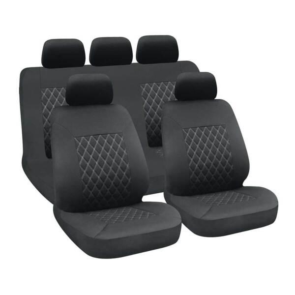 HIVE Black-Grey - Комплект Универсални Калъфки за предни и задни седалки