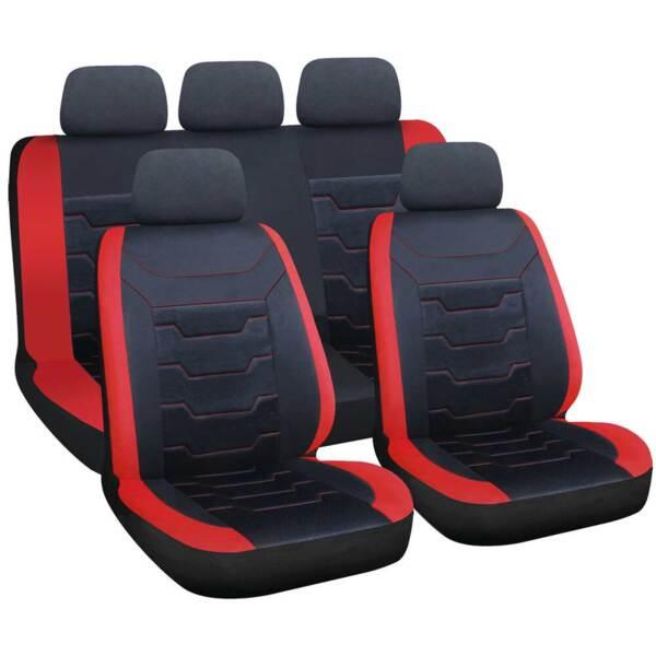 DRIFT Black-Red - Комплект Универсални Калъфки за предни и задни седалки
