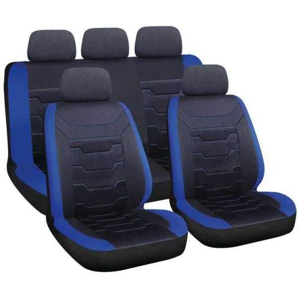 DRIFT Black-Blue - Комплект Универсални Калъфки за предни и задни седалки
