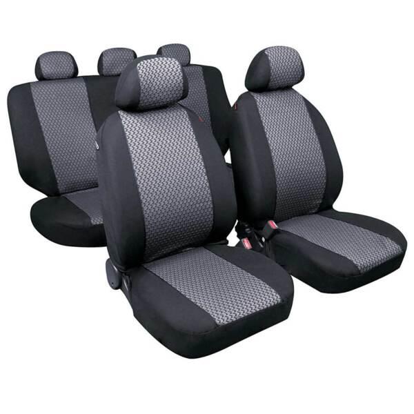 DIAGO Grey - Комплект Универсални Калъфки за предни и задни седалки