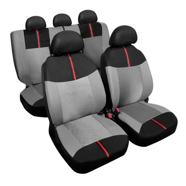 ARROW Black-Grey - Комплект Универсални Калъфки за предни и задни седалки