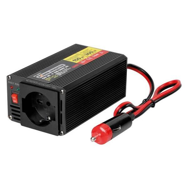 Инвертор на мощност от 12V DC към 220V AC - 150W номинална до 300W пикова мощност