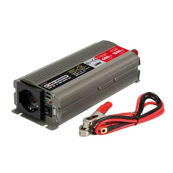 Инвертор на мощност от 12V DC към 220V AC - 500W номинална до 1000W пикова мощност