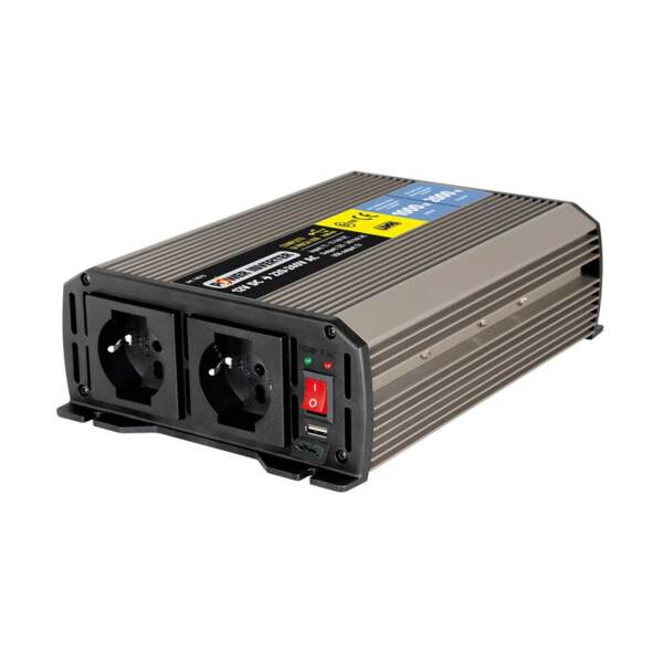 Power Inverter1000 Инвертор на мощност от 12V DC към 220V AC - 1000W номинална до 2000W пикова мощност