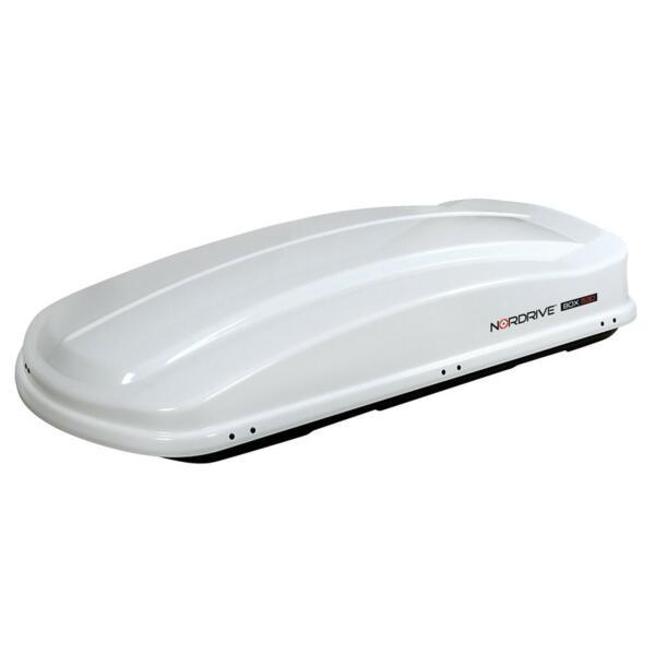Багажник автобокс Nordrive box 530 shiny white - бял гланц