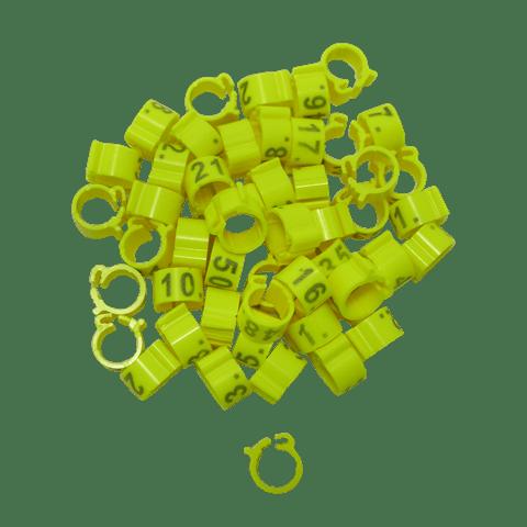 Пръстени с номера 100 броя - 8 мм