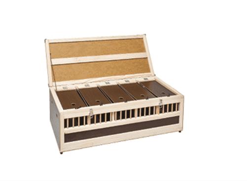 Дървена транспортна кутия за 5 гълъба