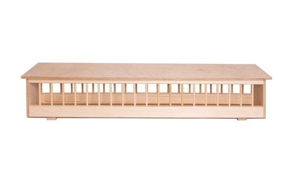 Дървена хранилка с капак 75 см