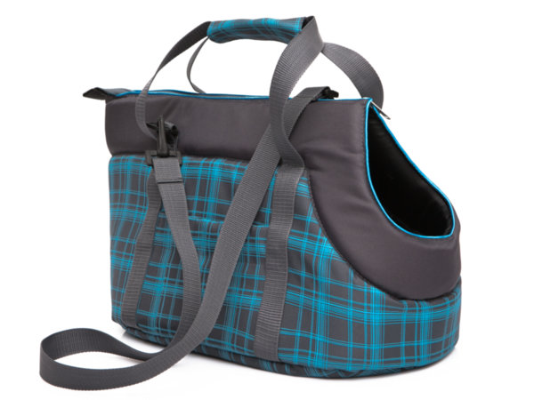 Чанта за куче графит/небесно синьо размер 2