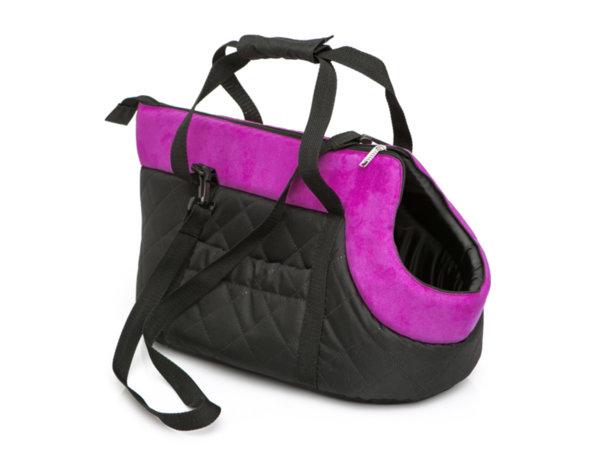 Чанта за куче черно/розово размер 2