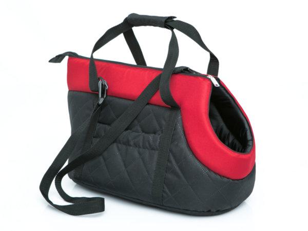 Чанта за куче черно/червено размер 2