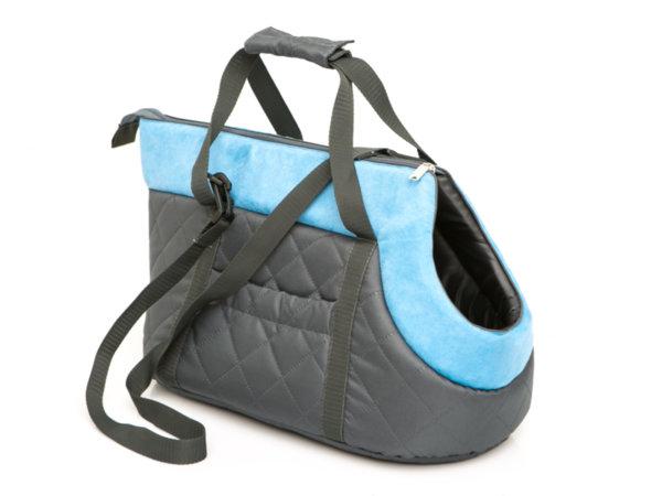 Чанта за куче черно/тюркоаз размер 2