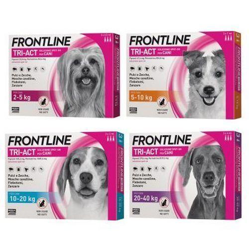 Frontline Tri-Act за кучета от 5 до 10кг,кутия с три пипети