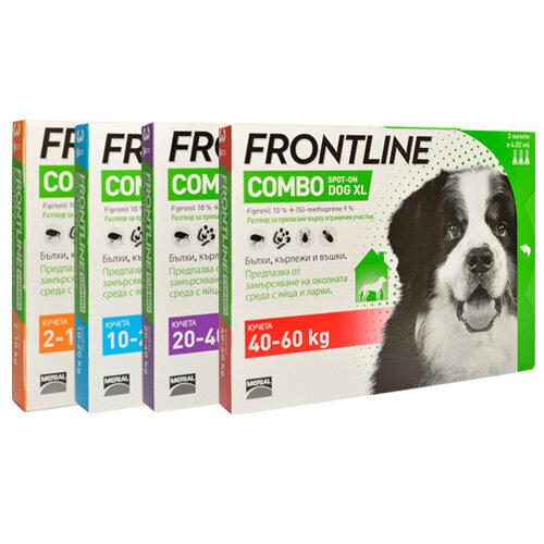 Frontline Combo за кучета от 2 до 10кг,кутия с три пипети