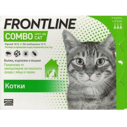 Frontline Combo Cat,кутия с три пипети