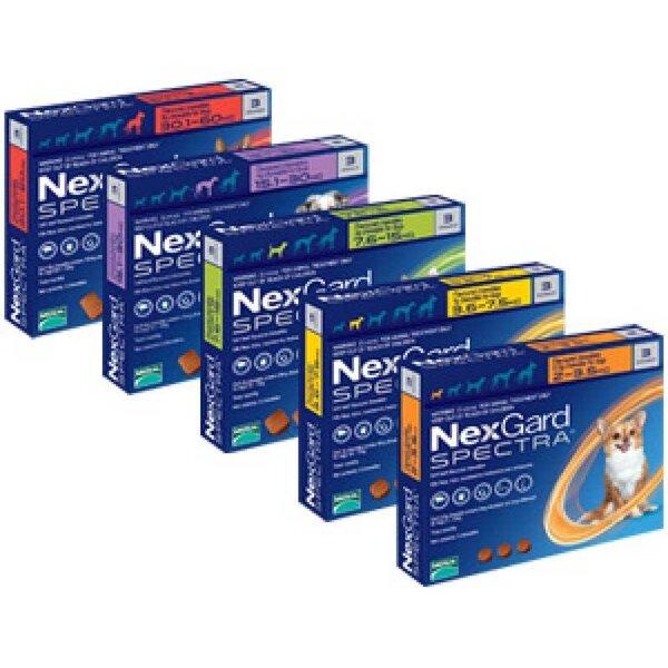 NexGard Spectra 7,5 - 15 кг,кутия с три таблетки