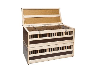 Дървена транспортна кутия за 10 гълъба