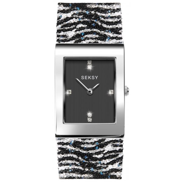 Дамски часовник Seksy Rocks Zebra Print Swarovski Crystals