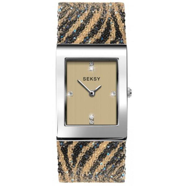 Дамски часовник Seksy Rocks Tiger Print Swarovski Crystals