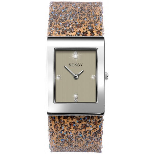 Дамски часовник Seksy Rocks Leopard Print Swarovski Crystals