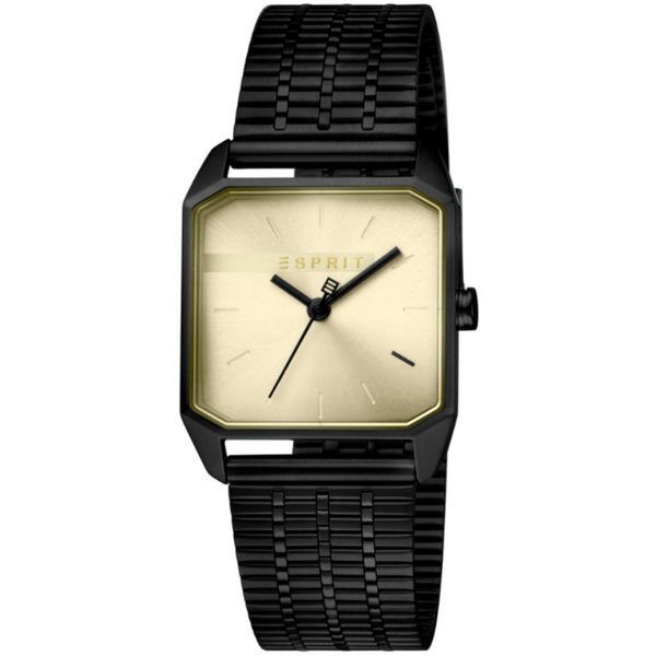 Дамски часовник ESPRIT Cube Ladies Gold Black