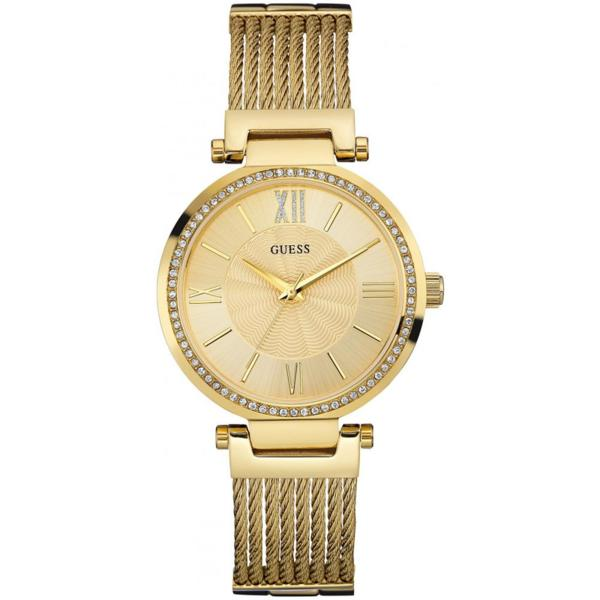 Дамски часовник Guess Soho Gold Dial Gold Plated