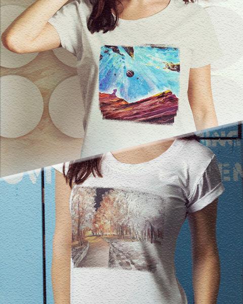 Тениски с авторски картини