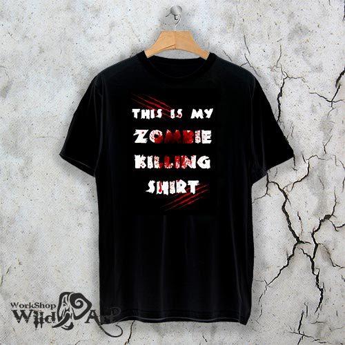 Тениска за Хелоуин Zombie killing shirt W 1148