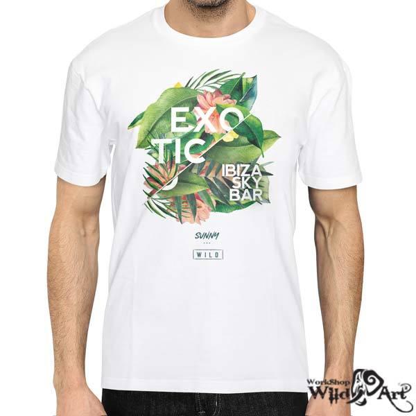 Лятна тениска с щампа Exotic