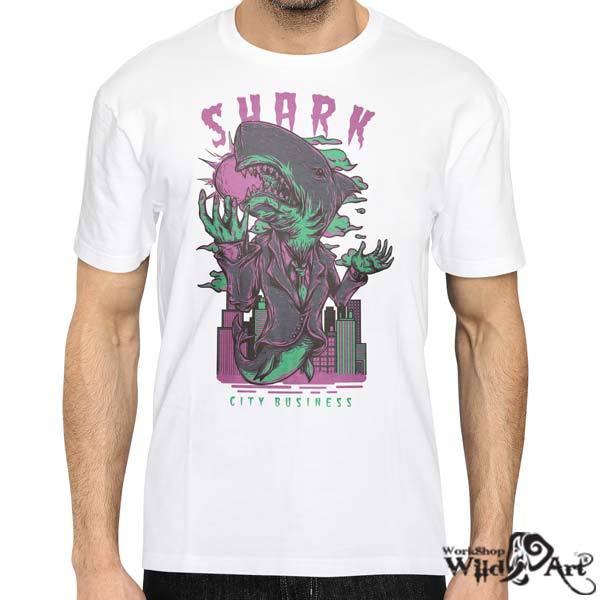 Лятна тениска с щампа Shark